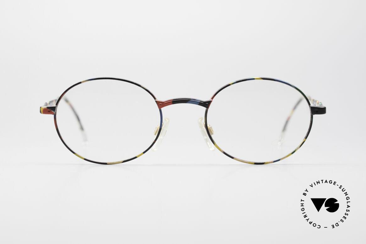 Cazal 1114 - Point 2 Runde Ovale Vintage Brille, CAZAL 'Point 2' = CAZAL 'Punkt Zwei' = CAZAL.2, Passend für Herren und Damen