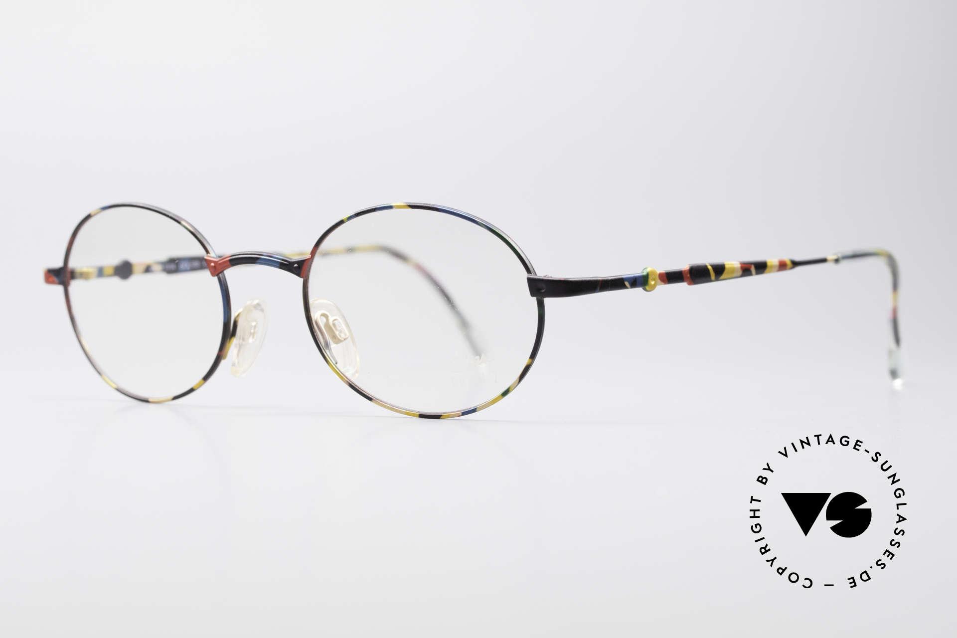 Cazal 1114 - Point 2 Runde Ovale Vintage Brille, damals die etwas schlichtere Brillenlinie von Cazal, Passend für Herren und Damen