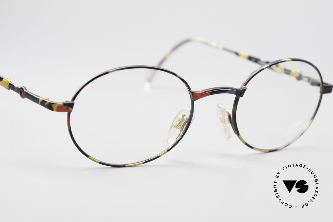 Cazal 1114 - Point 2 Runde Ovale Vintage Brille, Top-Tragekomfort, da sehr leichter Rahmen; nur 16g, Passend für Herren und Damen