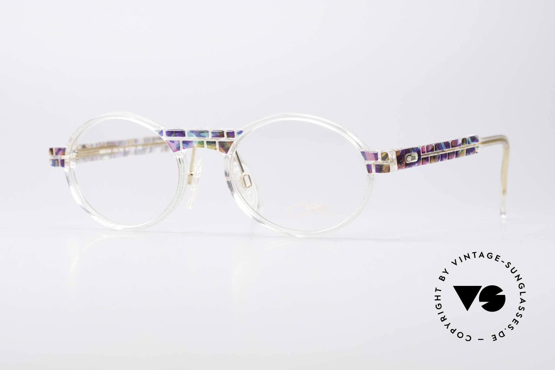 Cazal 510 Crystal Limited Ovale Brille, seltene vintage Brille der Cazal Crystal 500er Serie, Passend für Herren und Damen