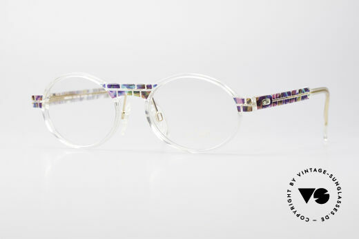 Cazal 510 Crystal Limited Ovale Brille Details