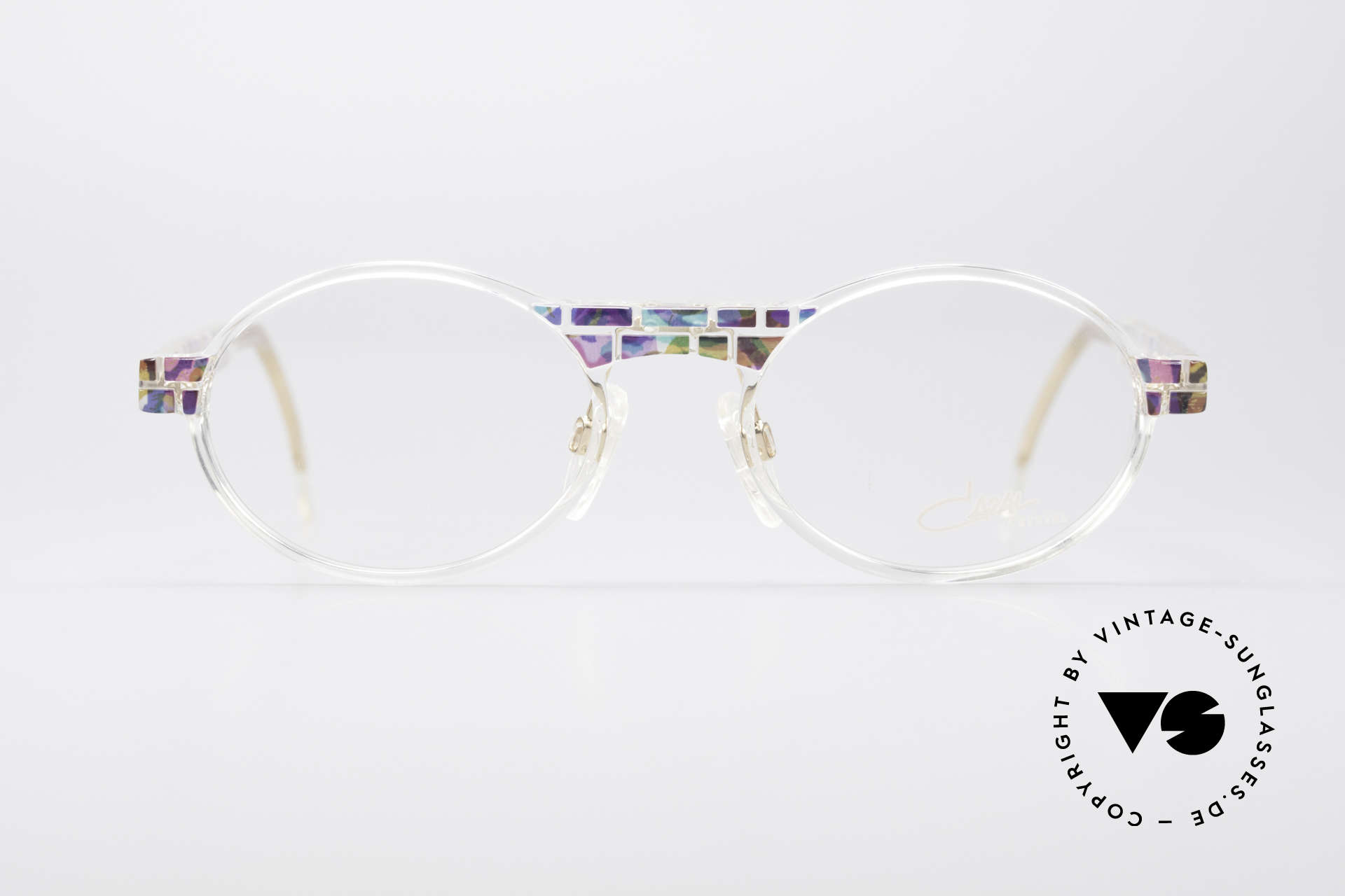 Cazal 510 Crystal Limited Ovale Brille, Mitte der 90er Jahre nur als Kleinstserie produziert, Passend für Herren und Damen