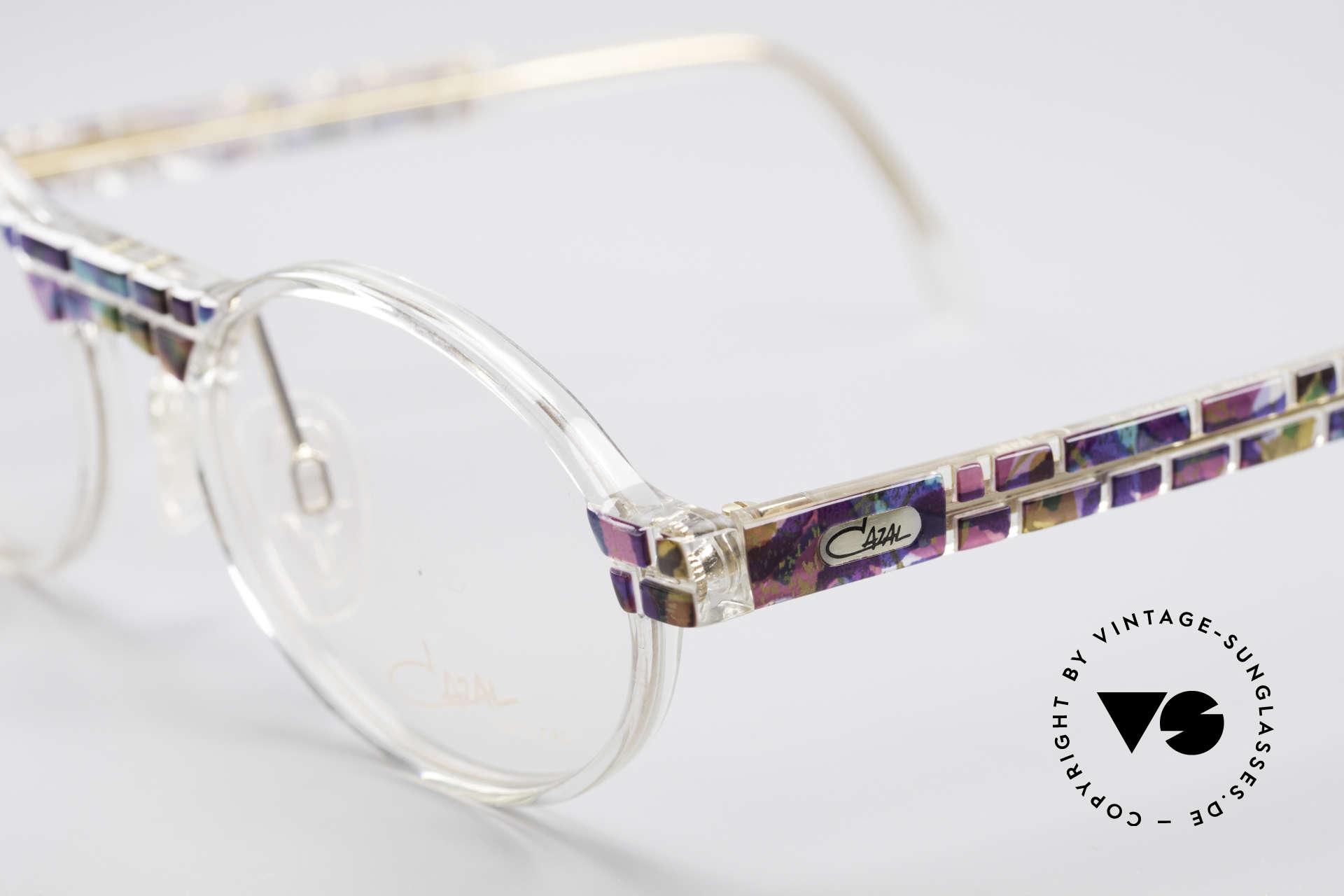 Cazal 510 Crystal Limited Ovale Brille, tolle Kombination aus Form, Farbe und Materialien, Passend für Herren und Damen