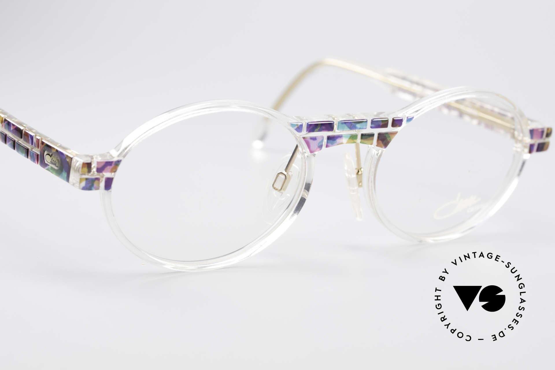 Cazal 510 Crystal Limited Ovale Brille, ungetragen (wie alle unsere vintage CAZAL Brillen), Passend für Herren und Damen
