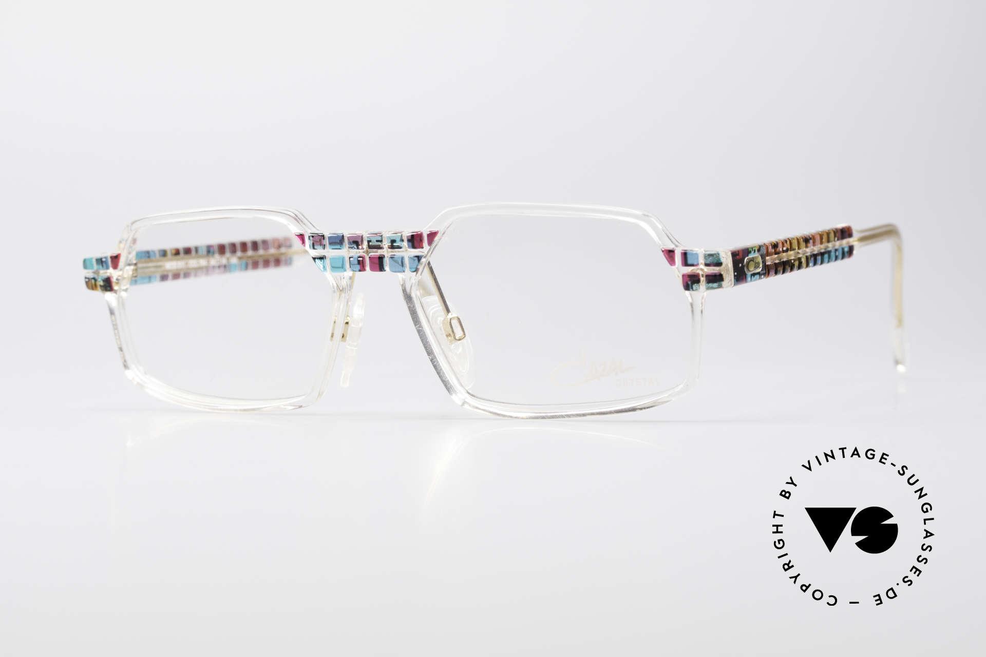 Cazal 511 Crystal Limited Vintage Cazal, seltene vintage Brille der Cazal Crystal 500er Serie, Passend für Herren und Damen