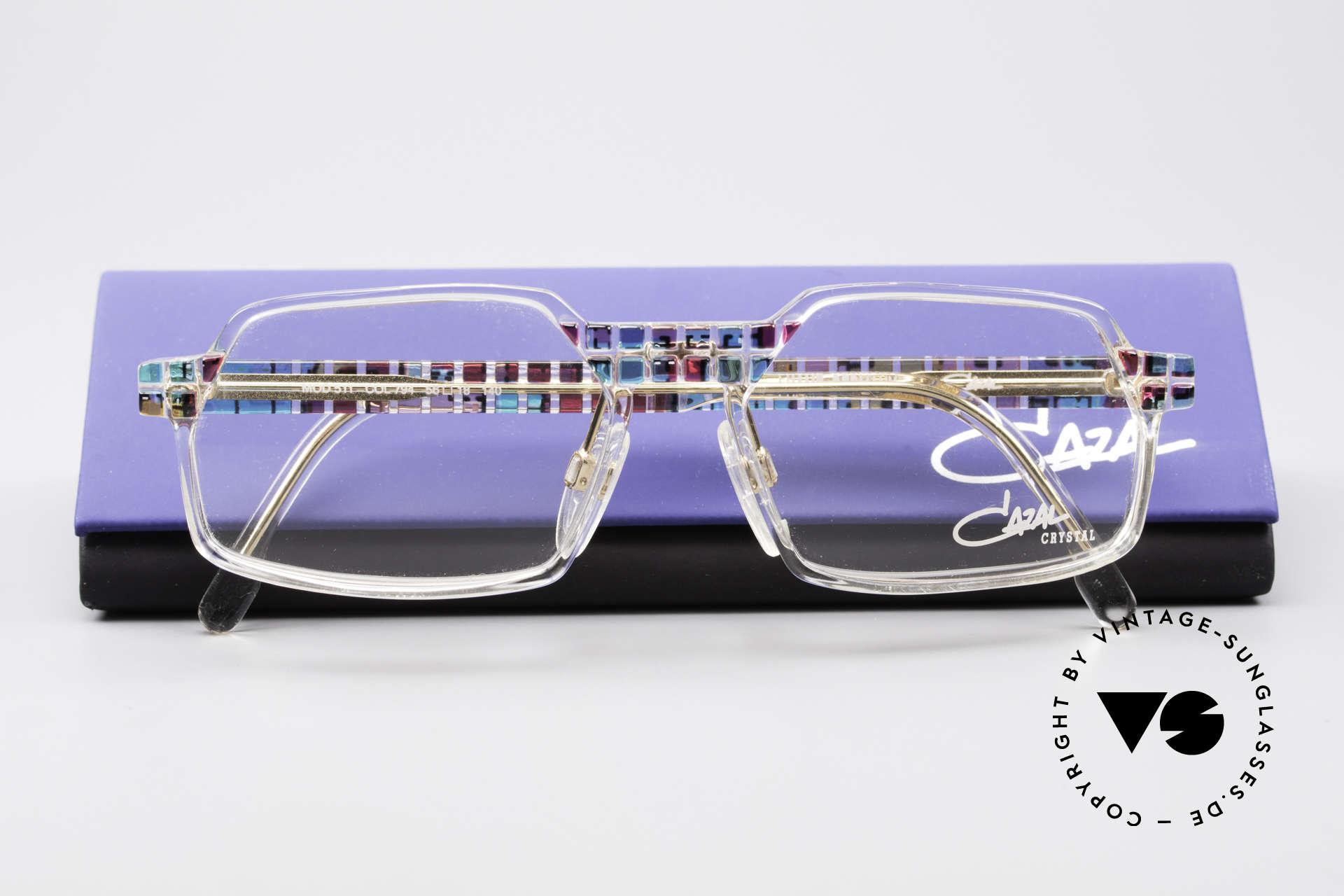 Cazal 511 Crystal Limited Vintage Cazal, DEMOgläser können durch optische ersetzt werden, Passend für Herren und Damen