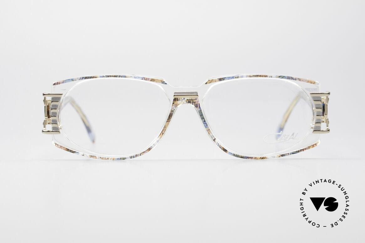 Cazal 372 Seltene HipHop Vintage Brille, grandioses Farbkonzept: pistazie-multicolor / transparent, Passend für Herren und Damen