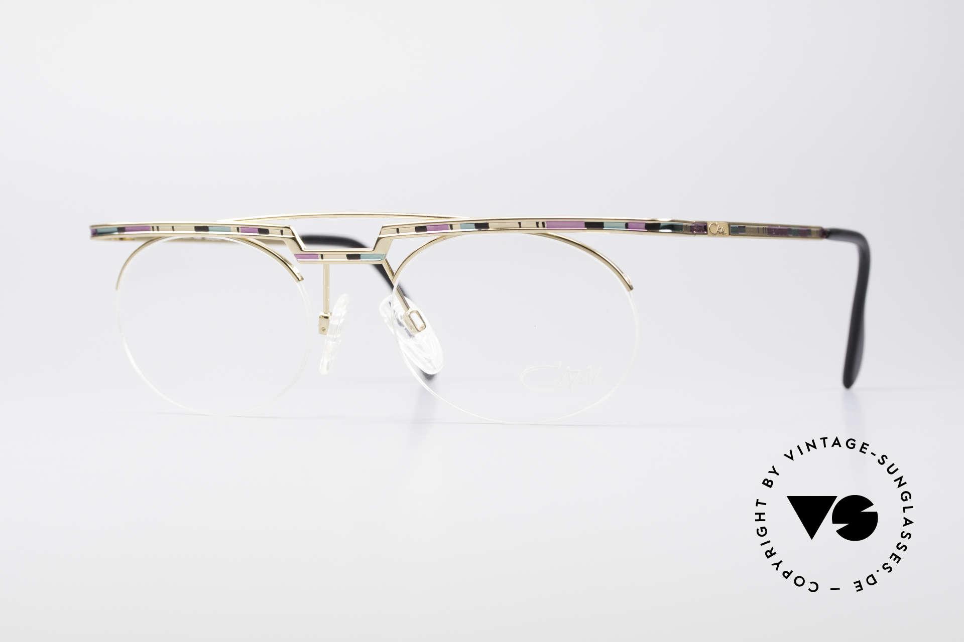 Cazal 758 Original Brille No Retrobrille, interessantes CAZAL vintage Brillengestell von 1997, Passend für Herren und Damen