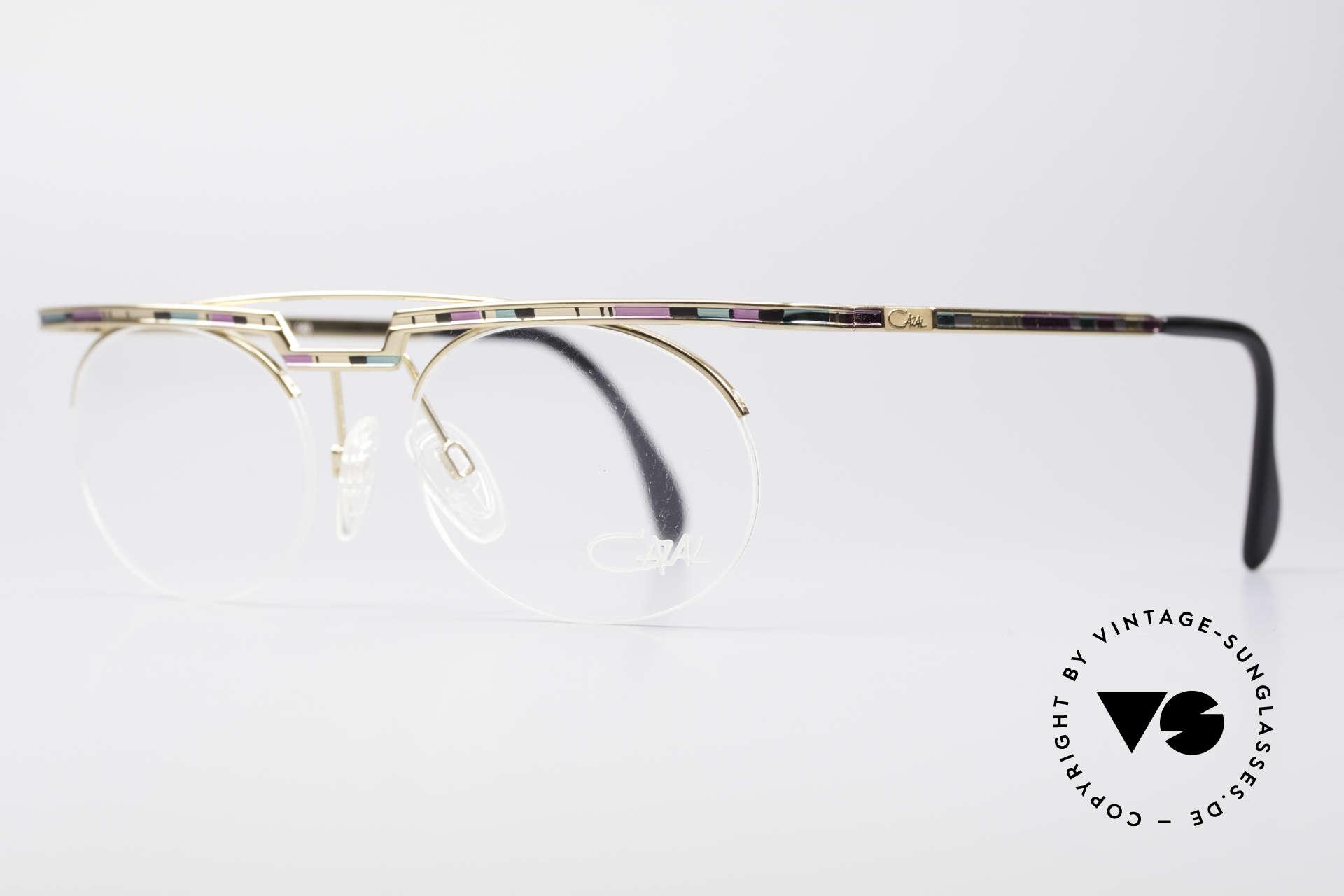 Cazal 758 Original Brille No Retrobrille, aufwändige Lackierung (typisch für die alten Cazals), Passend für Herren und Damen