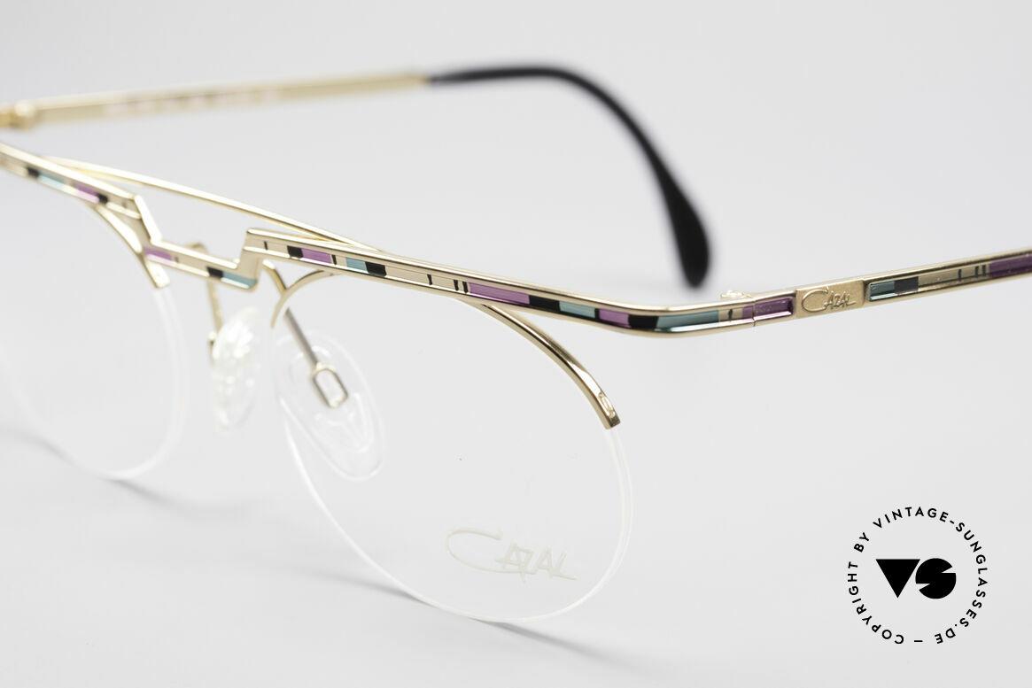 Cazal 758 Original Brille No Retrobrille, Katalog-Farbbezeichnung: rosé-mint-schwarz / gold, Passend für Herren und Damen