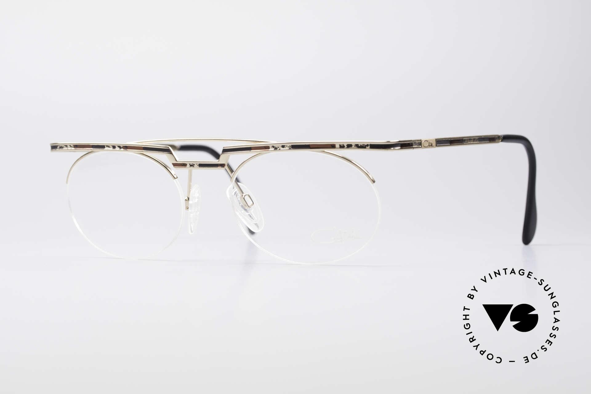 Cazal 758 Original 90er Vintage Brille, interessantes CAZAL vintage Brillengestell von 1997, Passend für Herren und Damen
