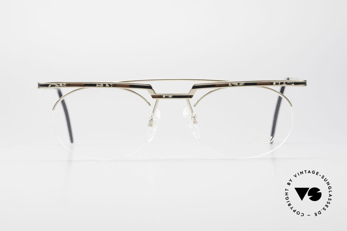Cazal 758 Original 90er Vintage Brille, tolles geometrisches Spiel (oval und eckig zugleich), Passend für Herren und Damen