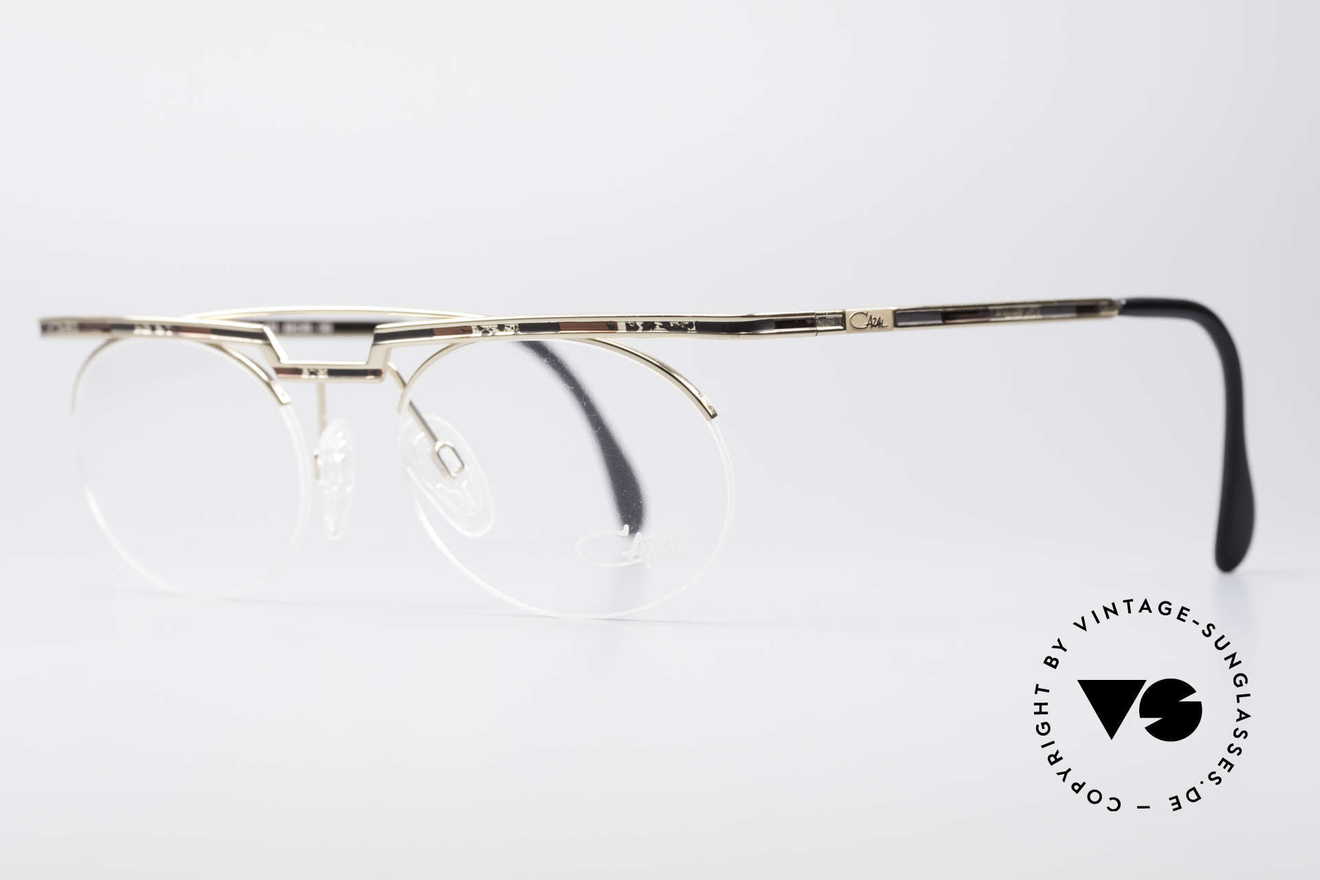 Cazal 758 Original 90er Vintage Brille, aufwändige Lackierung (typisch für die alten Cazals), Passend für Herren und Damen