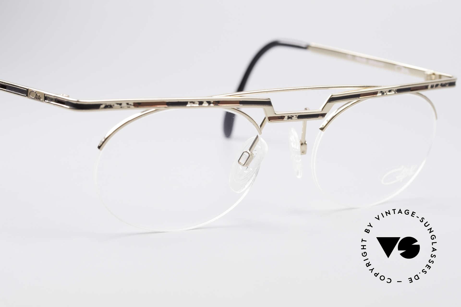 Cazal 758 Original 90er Vintage Brille, fühlbare Top-Qualität und Komfort (made in Germany), Passend für Herren und Damen