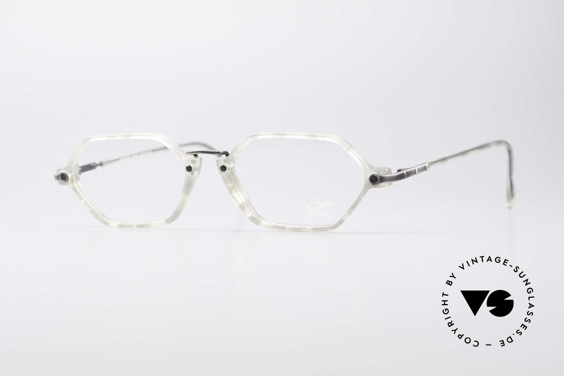 Cazal 1302 - Point 2 Original 90er Brillenfassung, feine, filigrane vintage Cazal Designer-Brillenfassung, Passend für Herren und Damen
