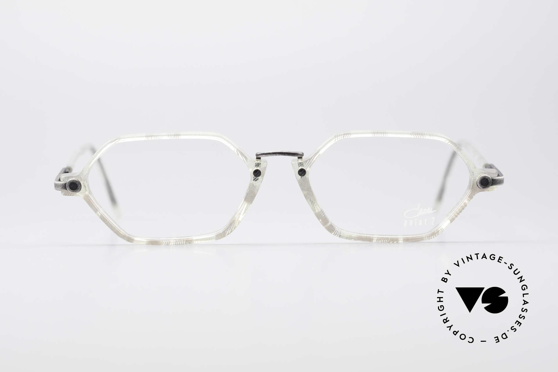Cazal 1302 - Point 2 Original 90er Brillenfassung, ein Original aus der dezenten 'Point 2' Serie von 1999, Passend für Herren und Damen