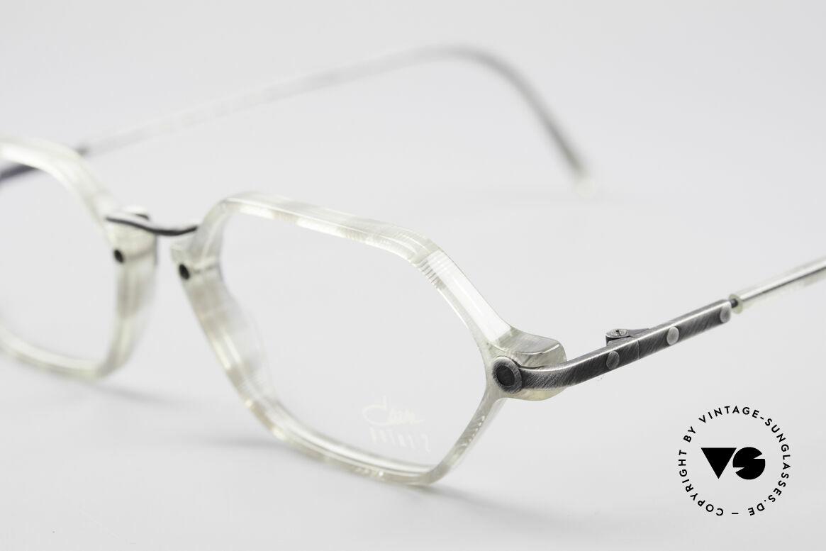 Cazal 1302 - Point 2 Original 90er Brillenfassung, leicht achteckiges Designer-Stück (made in Germany), Passend für Herren und Damen