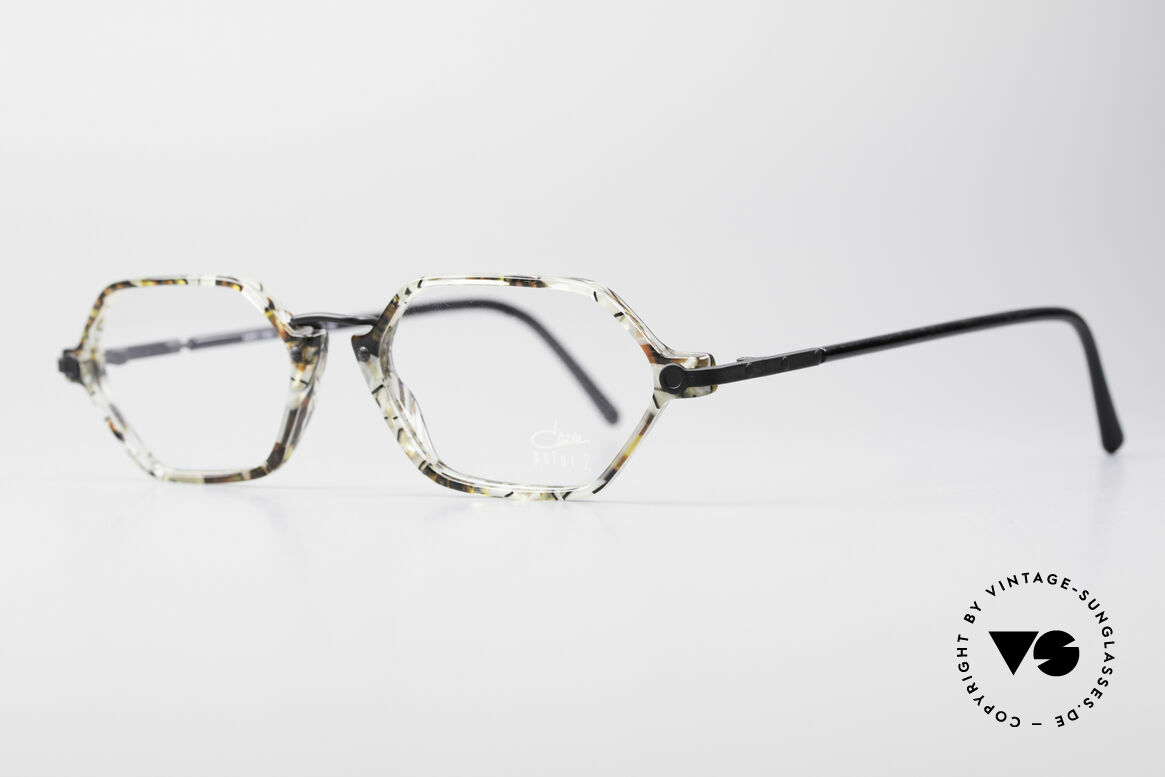 Cazal 1302 - Point 2 Original 90er Designer-Brille, grazile Kombination der Materialien in Top-Qualität, Passend für Herren und Damen