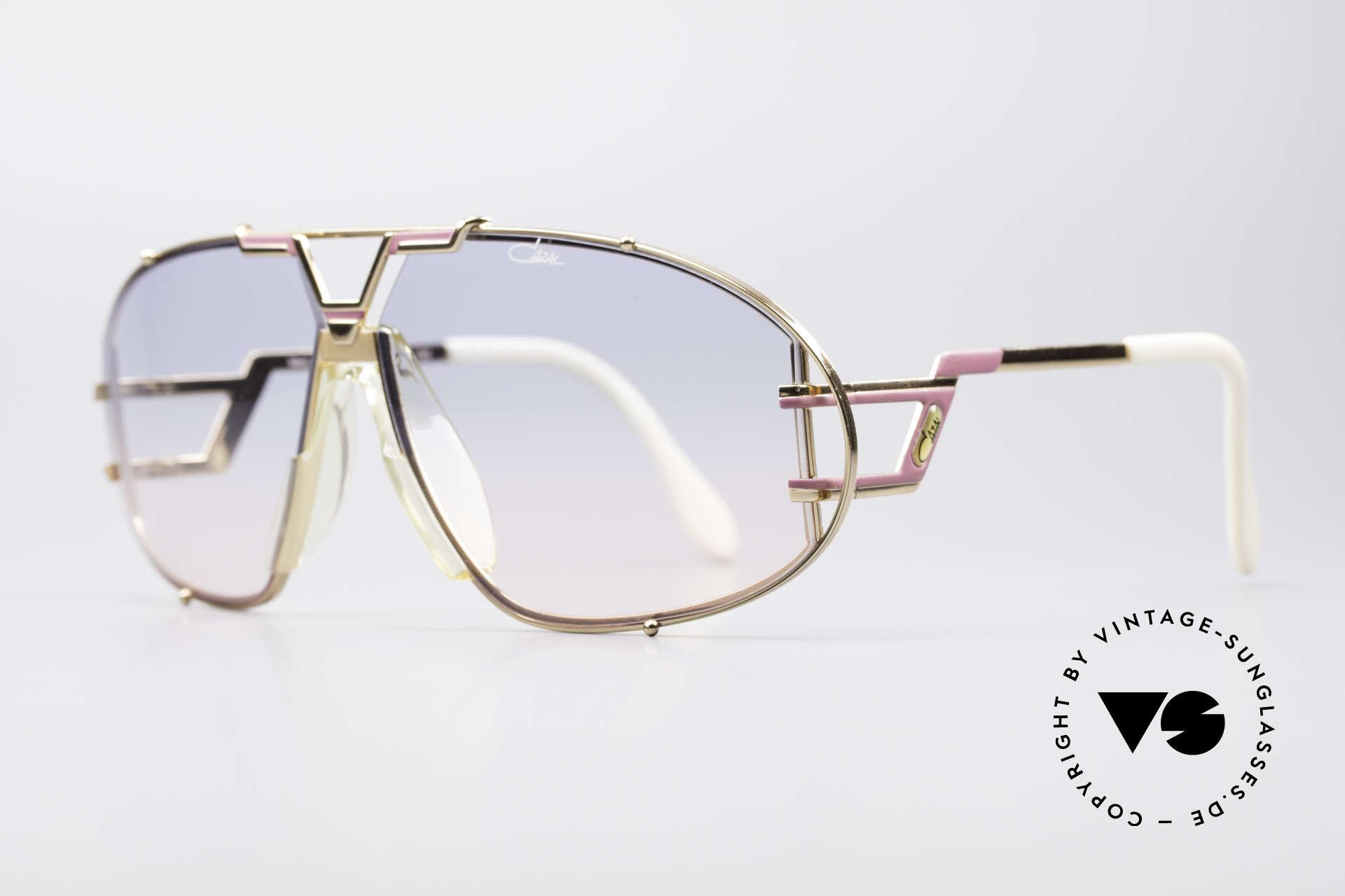 Cazal 907 Jay-Z Beyoncé Sonnenbrille, ein Sammlerstück inkl. Cazal Etui & Wechselgläsern, Passend für Herren und Damen
