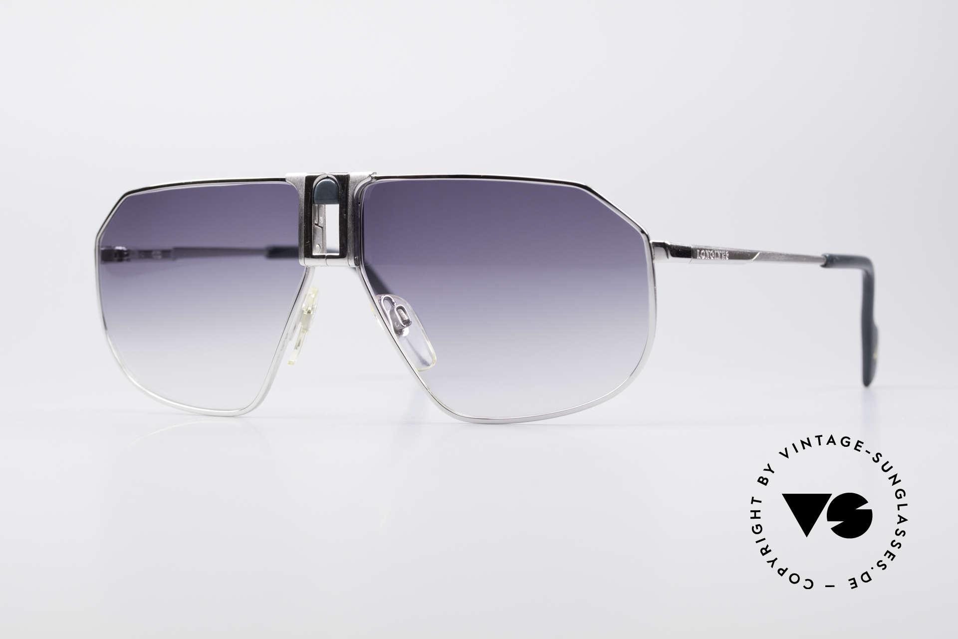 Longines 0153 Large Vintage Sonnenbrille, hochwertige vintage Sonnenbrille von LONGINES, Passend für Herren