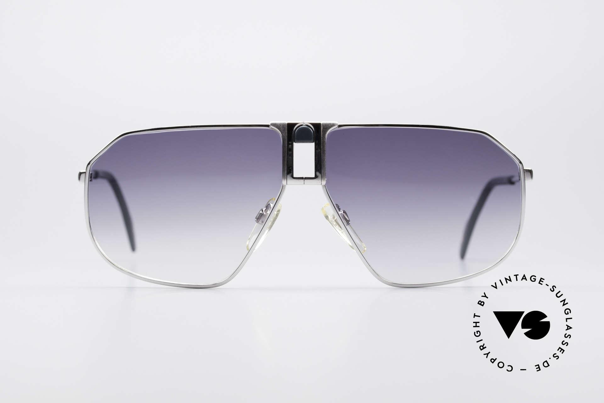 Longines 0153 Large Vintage Sonnenbrille, sehr edler Rahmen mit flexiblen Federscharnieren, Passend für Herren