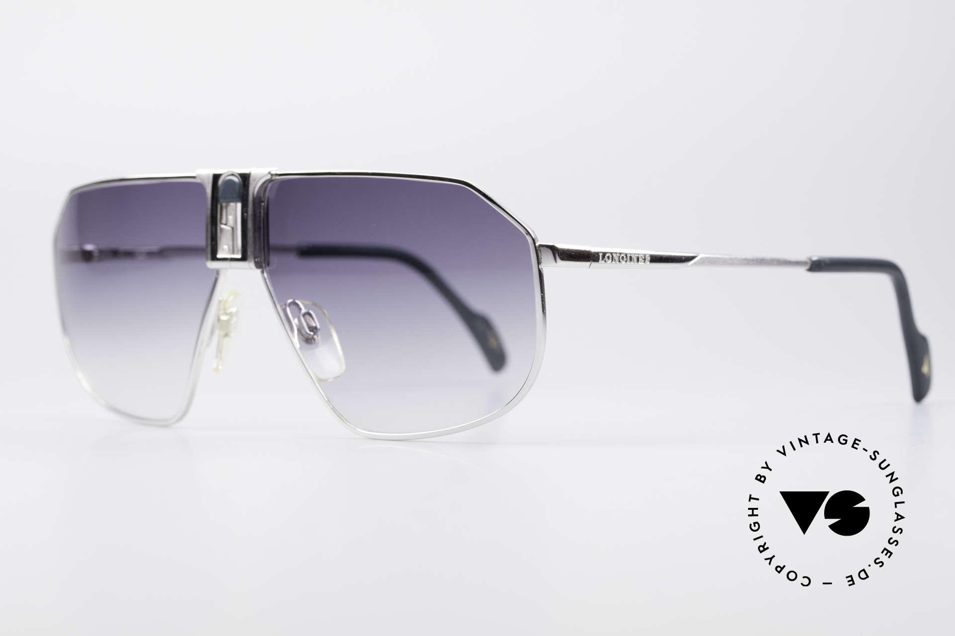 Longines 0153 Large Vintage Sonnenbrille, für Longines im Traditionshaus Metzler produziert, Passend für Herren