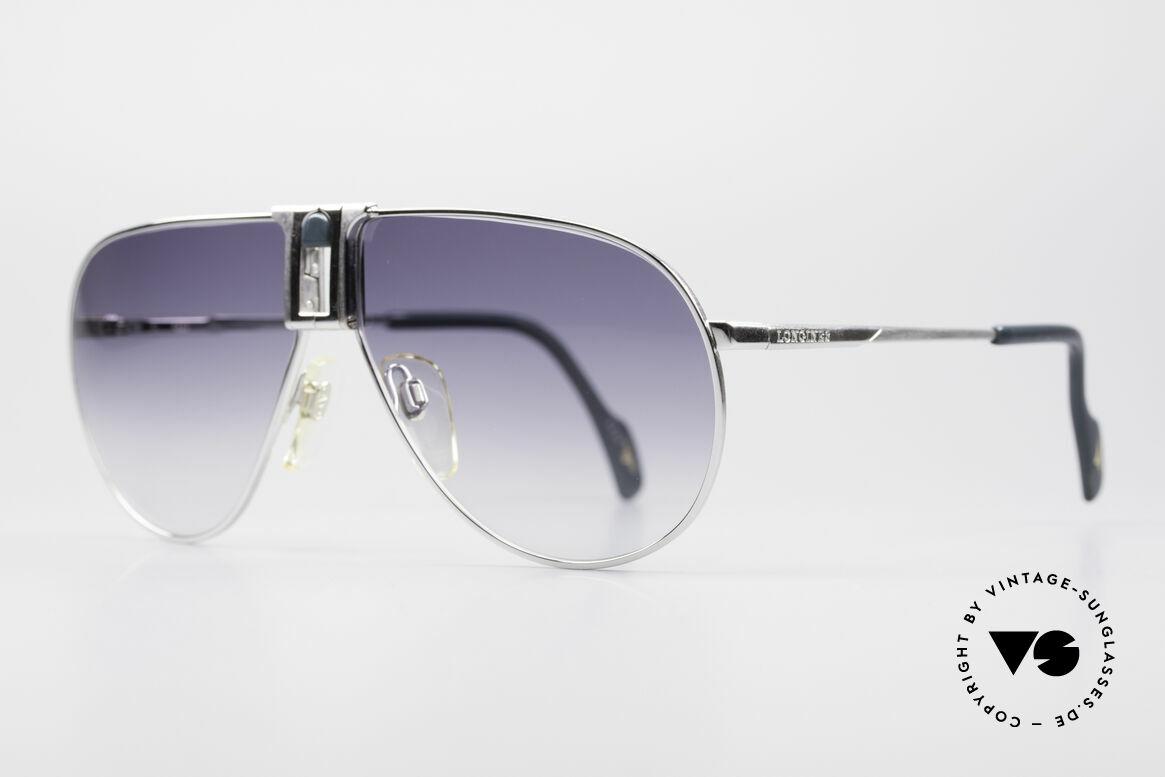 Longines 0154 Large 80er Aviator Sonnenbrille, vintage Luxusbrille for Gentlemen; purer Lifestyle!, Passend für Herren