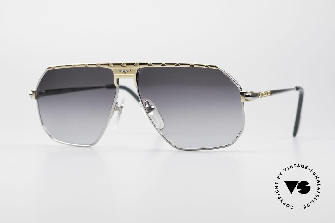 Longines 0152 Titanium 80er Sonnenbrille, maskuline 80er Designersonnenbrille von Longines, Passend für Herren
