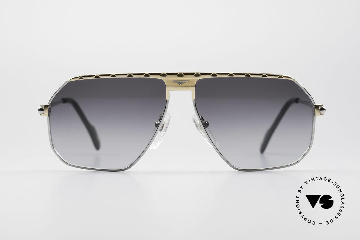 Longines 0152 Titanium 80er Sonnenbrille, stimmiges Farbkonzept und glänzende Materialien, Passend für Herren