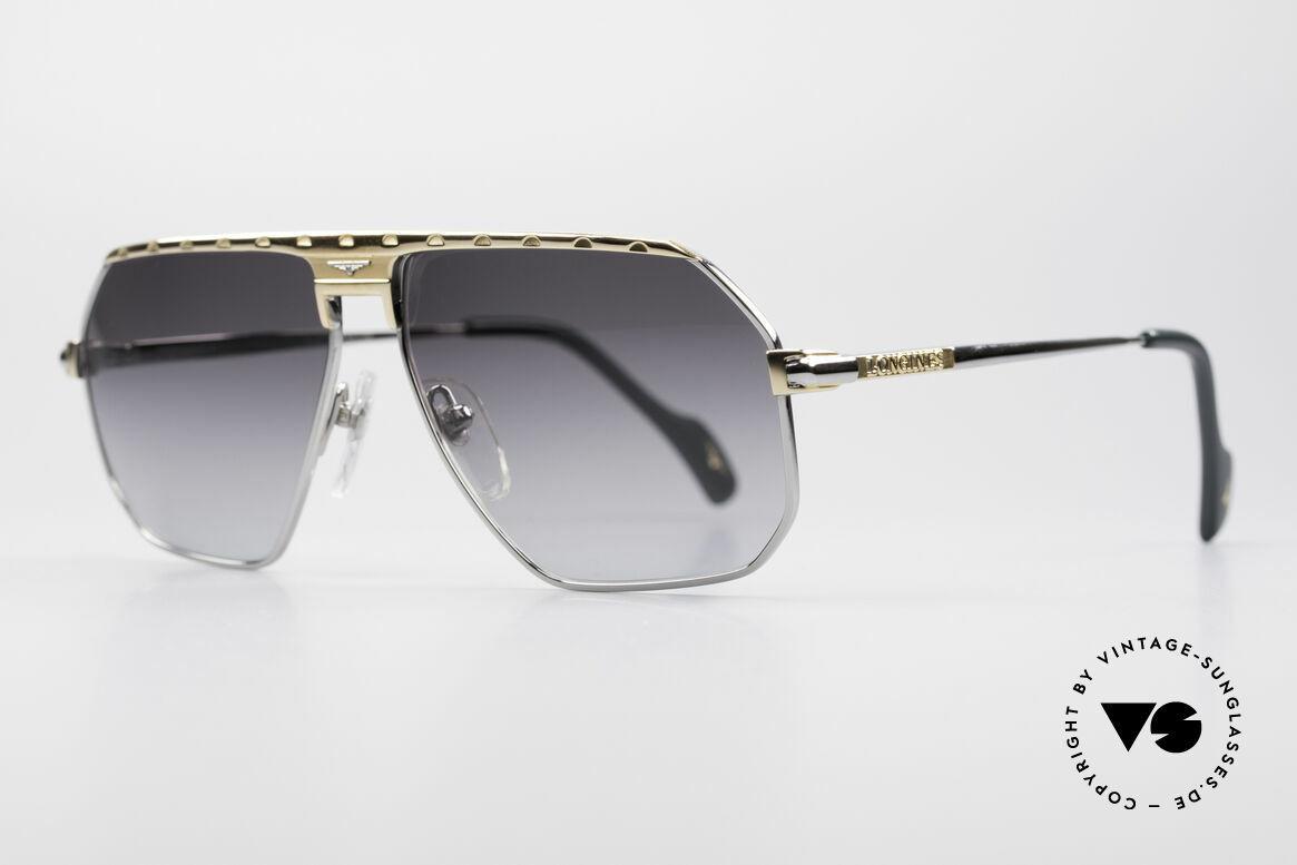 Longines 0152 Titanium 80er Sonnenbrille, 'PURE TITANIUM' Rahmen und entsprechend leicht, Passend für Herren