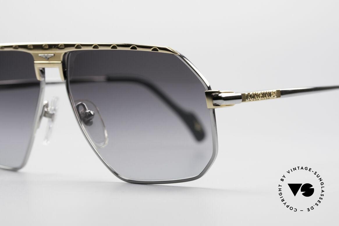 Longines 0152 Titanium 80er Sonnenbrille, medium Größe 58-13 und mit Lederetui von GENTA, Passend für Herren