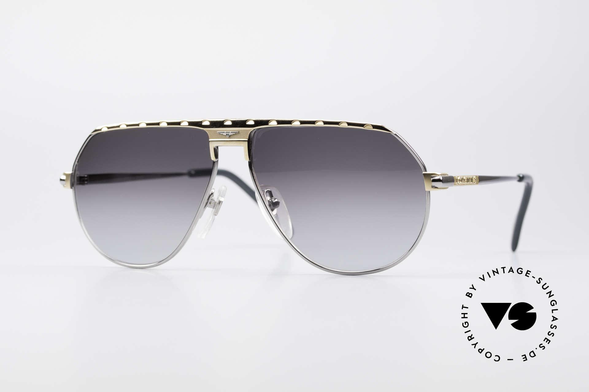 Longines 0151 80er Titanium Sonnenbrille, maskuline 80er Designersonnenbrille von Longines, Passend für Herren