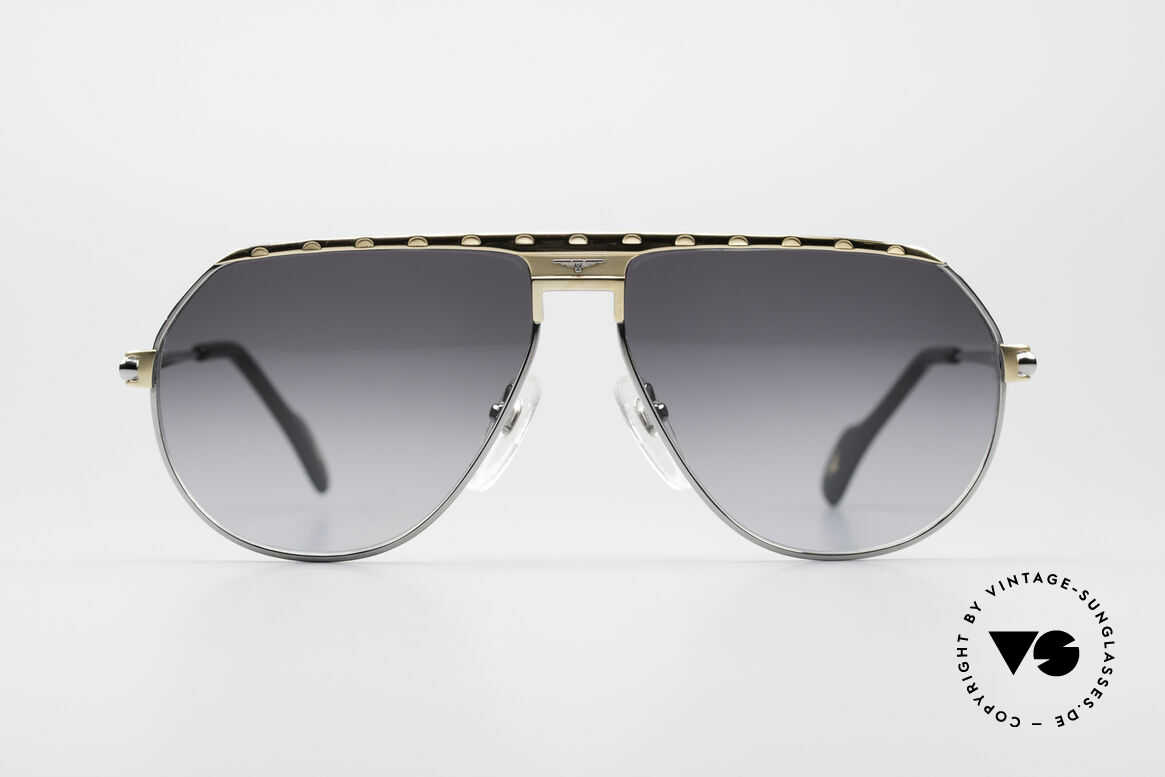 Longines 0151 80er Titanium Sonnenbrille, stimmiges Farbkonzept und glänzende Materialien, Passend für Herren