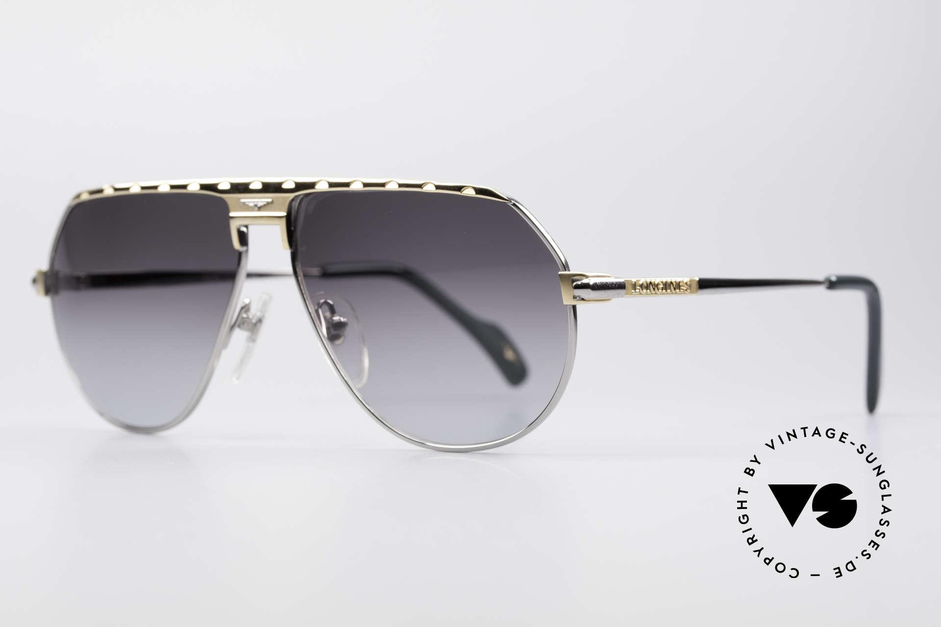 Longines 0151 80er Titanium Sonnenbrille, 'PURE TITANIUM' Rahmen und entsprechend leicht, Passend für Herren
