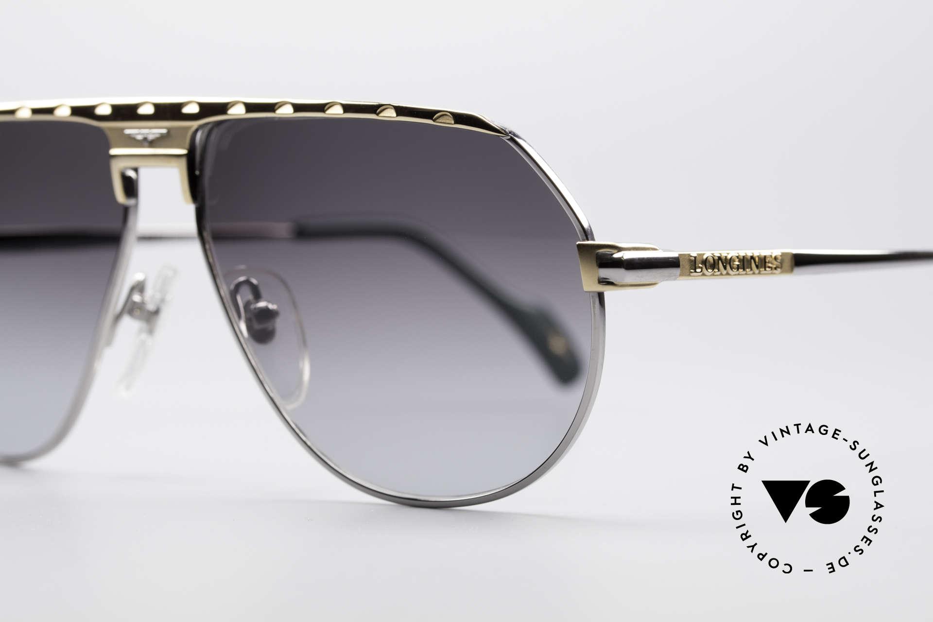 Longines 0151 80er Titanium Sonnenbrille, medium Größe 58-13 und mit Lederetui von GENTA, Passend für Herren