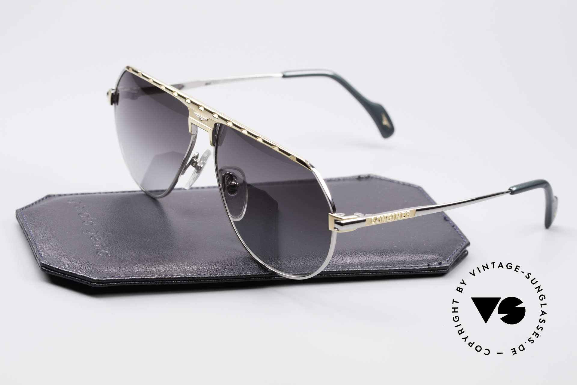 Longines 0151 80er Titanium Sonnenbrille, ungetragen (wie alle unsere vintage Longines Brillen), Passend für Herren