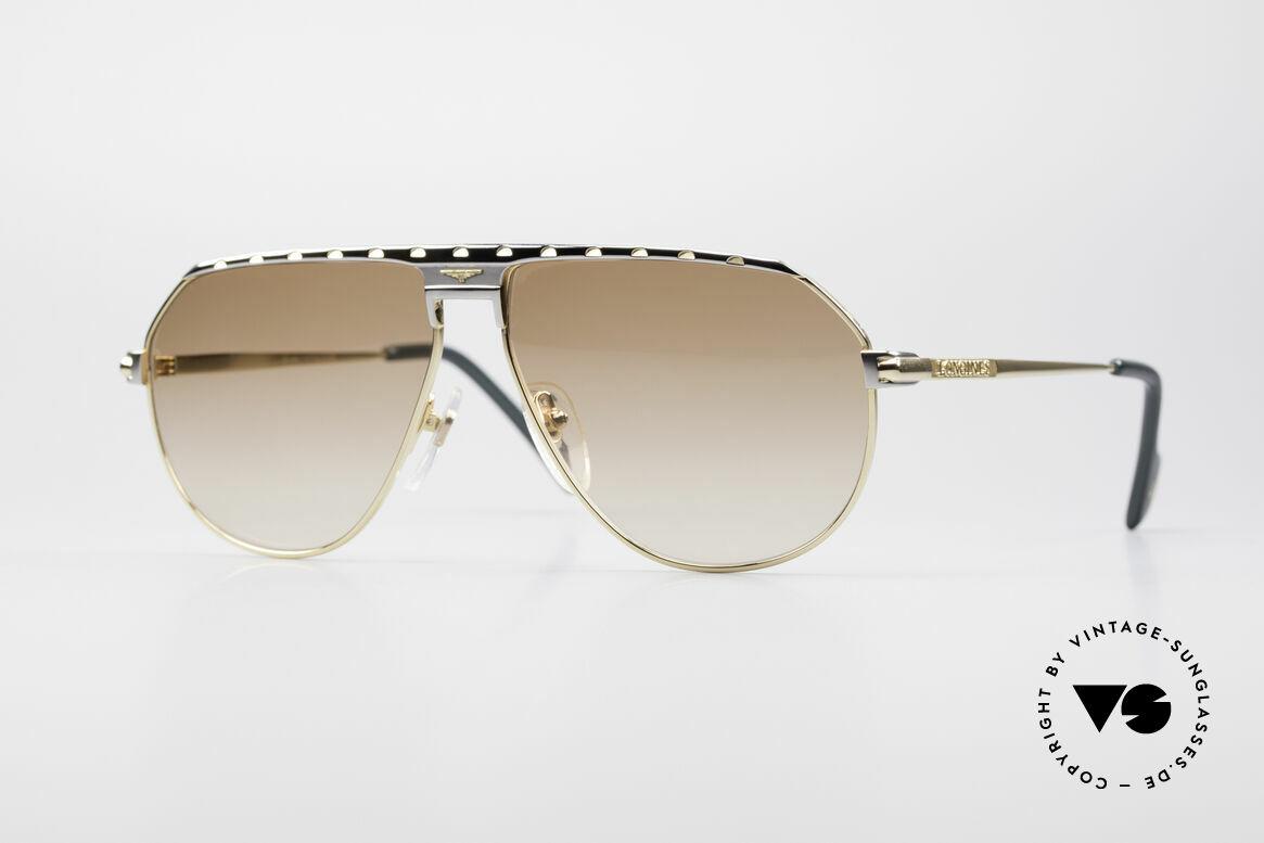 Longines 0151 Large Titanium Sonnenbrille, maskuline 80er Designersonnenbrille von Longines, Passend für Herren