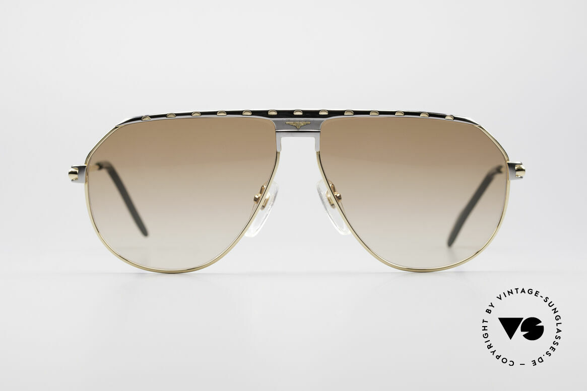 Longines 0151 Large Titanium Sonnenbrille, stimmiges Farbkonzept und glänzende Materialien, Passend für Herren
