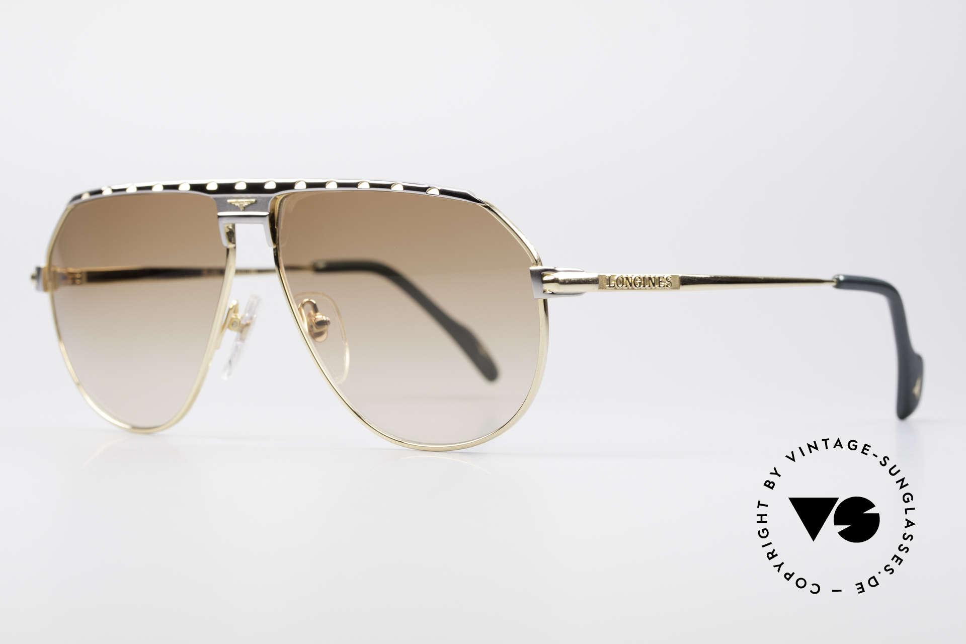 Longines 0151 Large Titanium Sonnenbrille, 'PURE TITANIUM' Rahmen und entsprechend leicht, Passend für Herren