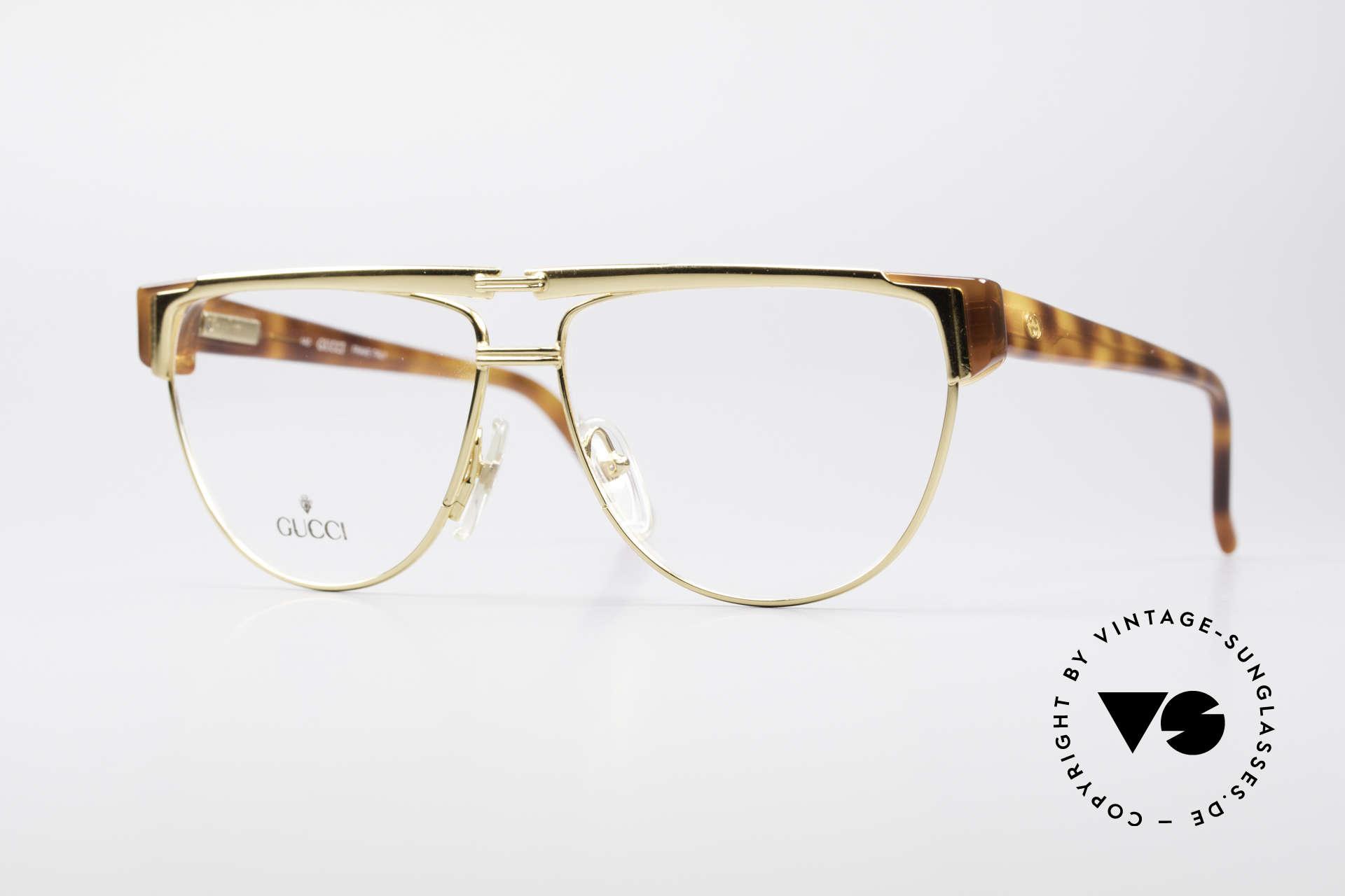 Gucci 2320 Designer Luxusbrille 80er, vintage 1980er Brille von GUCCI in Schildpatt-Optik, Passend für Herren und Damen