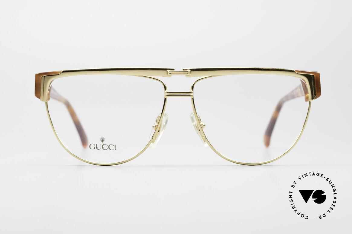 Gucci 2320 Designer Luxusbrille 80er, Bügel mit dem berühmten Symbol (die 2 Steigbügel), Passend für Herren und Damen