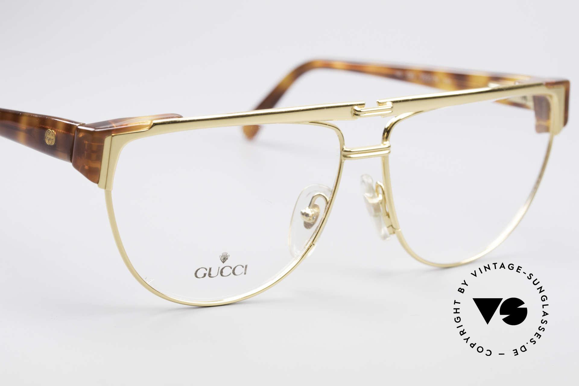 Gucci 2320 Designer Luxusbrille 80er, KEINE RETRObrille, sondern echte 1980er Jahre Ware, Passend für Herren und Damen