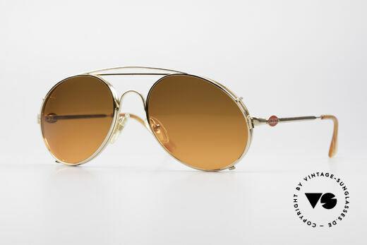 Bugatti 65986 Vintage Brille mit Sonnen Clip Details