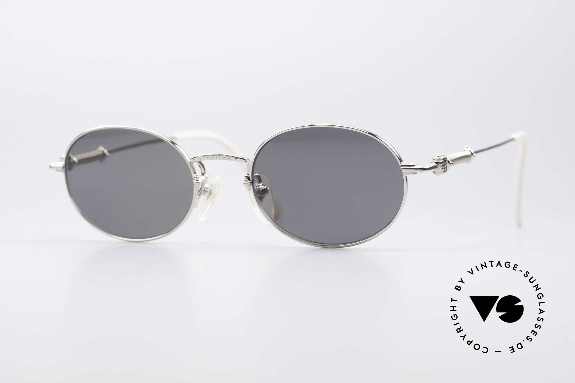 Jean Paul Gaultier 55-6101 Ovale Brille Polarisierend, ovale J.P. Gaultier vintage Sonnenbrille von 1996, Passend für Herren und Damen