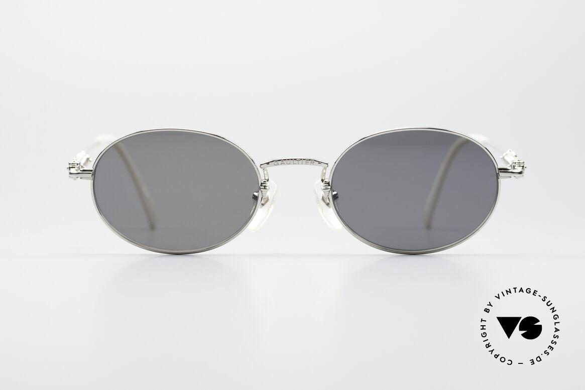 Jean Paul Gaultier 55-6101 Ovale Brille Polarisierend, zeitlose Fassung mit interessanten Design-Details, Passend für Herren und Damen