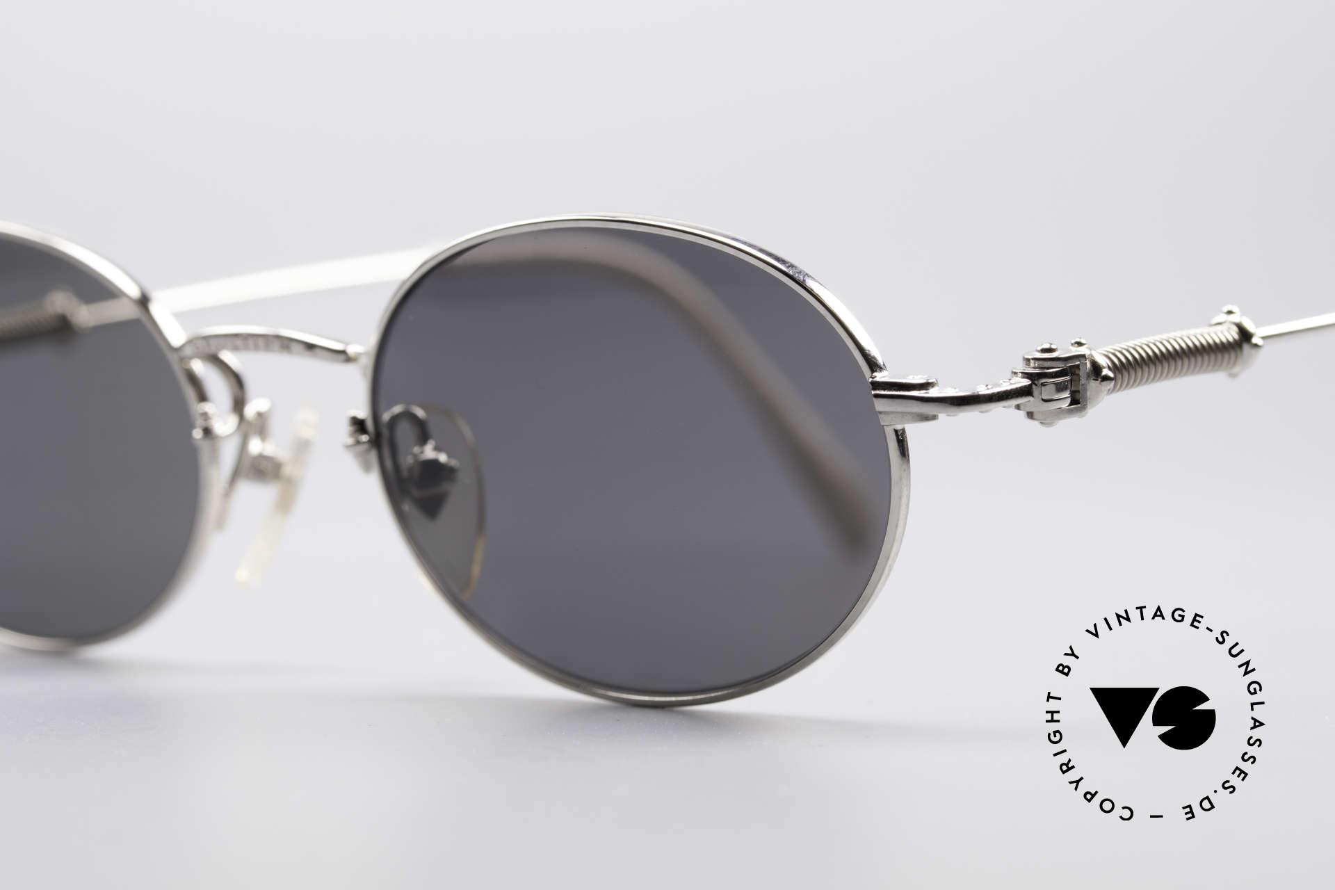 Jean Paul Gaultier 55-6101 Ovale Brille Polarisierend, herausragende Spitzen-Qualität (typisch Gaultier), Passend für Herren und Damen