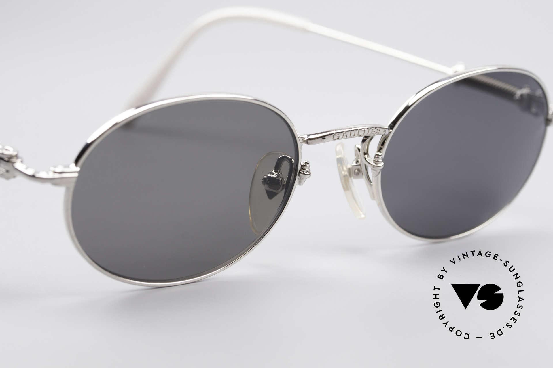 Jean Paul Gaultier 55-6101 Ovale Brille Polarisierend, ungetragen (wie all unsere vintage Designerbrillen), Passend für Herren und Damen