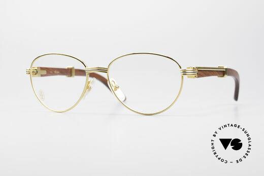 Cartier Auteuil Panto Bubinga Edelholz Brille Details