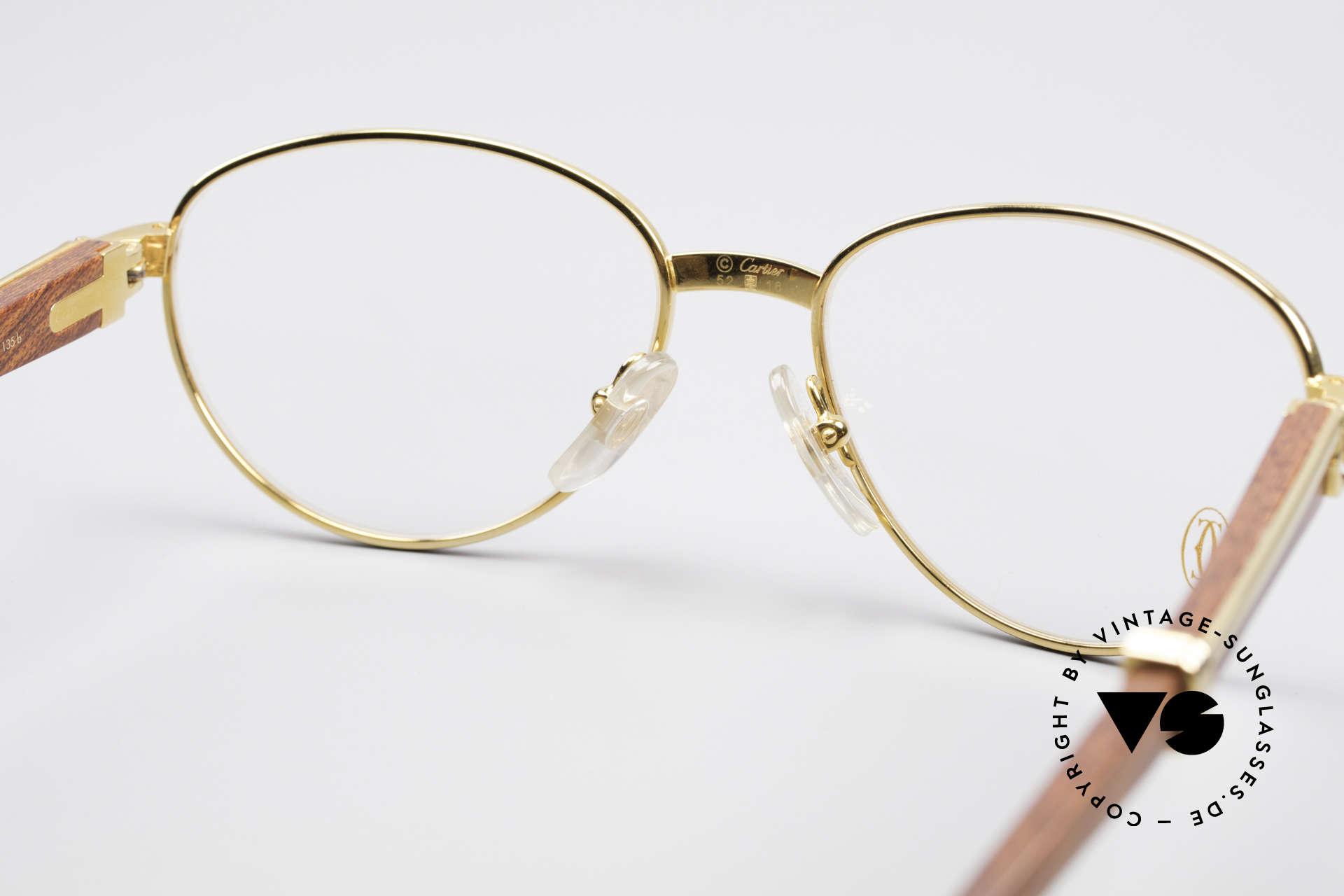 5e528cc79fc96 Brillen Cartier Auteuil Panto Bubinga Edelholz Brille