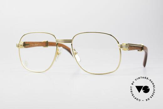 Cartier Monceau 90er Bubinga Edelholzbrille Details